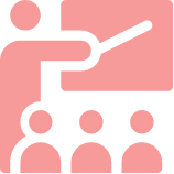 Pink classroom icon